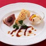 肉、魚介、野菜などバランス良く盛り合わせた 可愛らしいオードブル!月ごとに変わります!