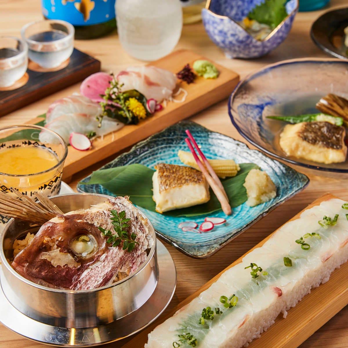 出荷から最短6時間!新鮮な鮮魚をふんだんに使用した創作和食!