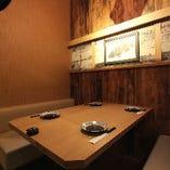 充実の広々個室は少人数様~大人数様までご利用いただけます!