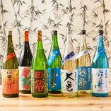 店長が2ヶ月ごとに厳選したこだわりの日本酒がラインナップ!