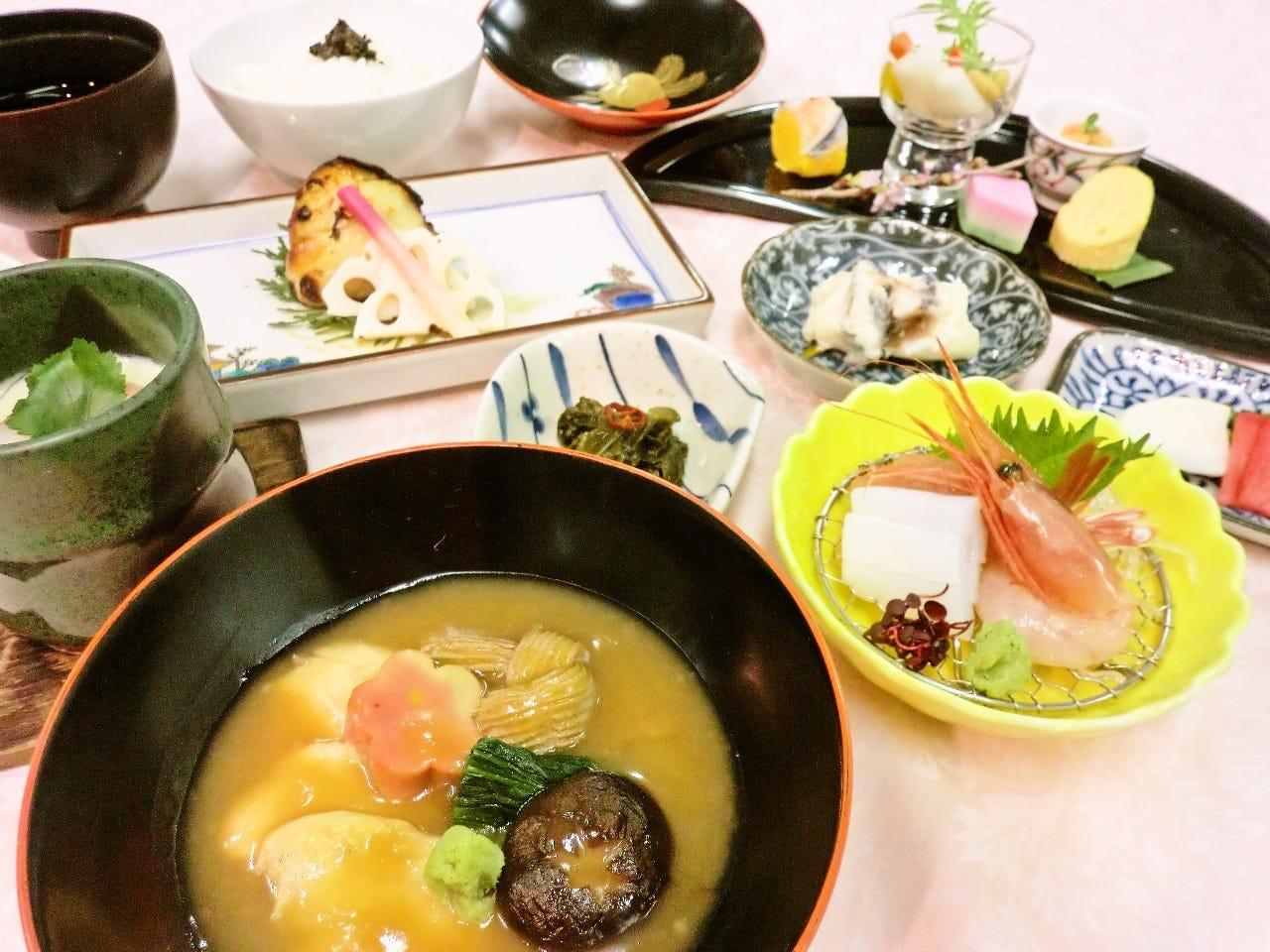 【じわもんのじぶ煮・旬を堪能】~金沢会席膳~ ●食後にデザート・飲み物付 ●接待に最適