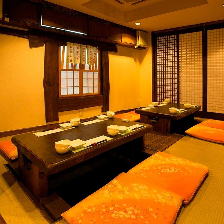 落ち着いた雰囲気の純和風お座敷個室