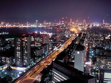 神戸港を一望できるレストラン