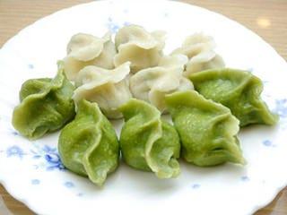 【二色水餃子】にら味・セロリ味