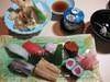 特別すしセット おすし 天ぷら 茶碗蒸し 赤だし付き