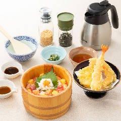 海の彩りおひつと天ぷらセット