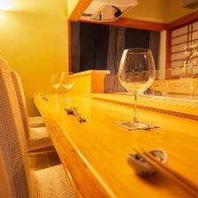 デートや記念日に最適なカウンター席
