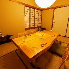 接待や記念日に最適な個室を完備