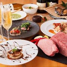厳選食材の鉄板焼×ワイン