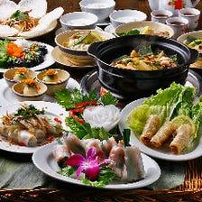 【全8品】パフォーマンスで盛り上がる実演料理!『ロータスコース』|宴会・送別会・歓迎会
