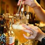 料理と相性抜群!ヱビスビールを使用しています。