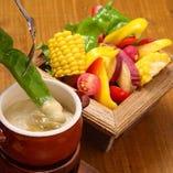 地野菜バーニャカウダー