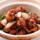 鶏手羽の黒豆ソース炒め