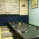 3Fの堀コタツの個室です。気の会う仲間と楽しいお食事を。