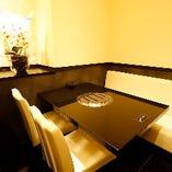 【2〜4名様まで】落ち着いた空間でお料理を楽しめるテーブル席