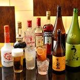 コースに飲み放題を付けることも可能。18種類以上のお酒を2時間たっぷりお楽しみいただけます。