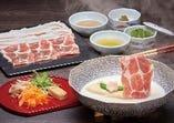 梅の花膳 湯豆腐と豚の豆乳しゃぶしゃぶ
