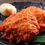 お豆腐と紅しょうがのふっくら鶏つくね揚げ