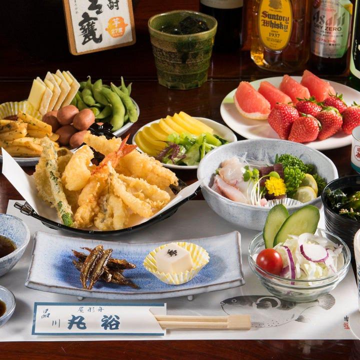 船上で揚げたての天ぷらを楽しめるコースが飲み放題付8,800円~