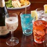 カクテル3種類飲み放題・スパークリングワイン