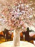 2021年4月下旬まで満開の桜のオブジェを飾っております。