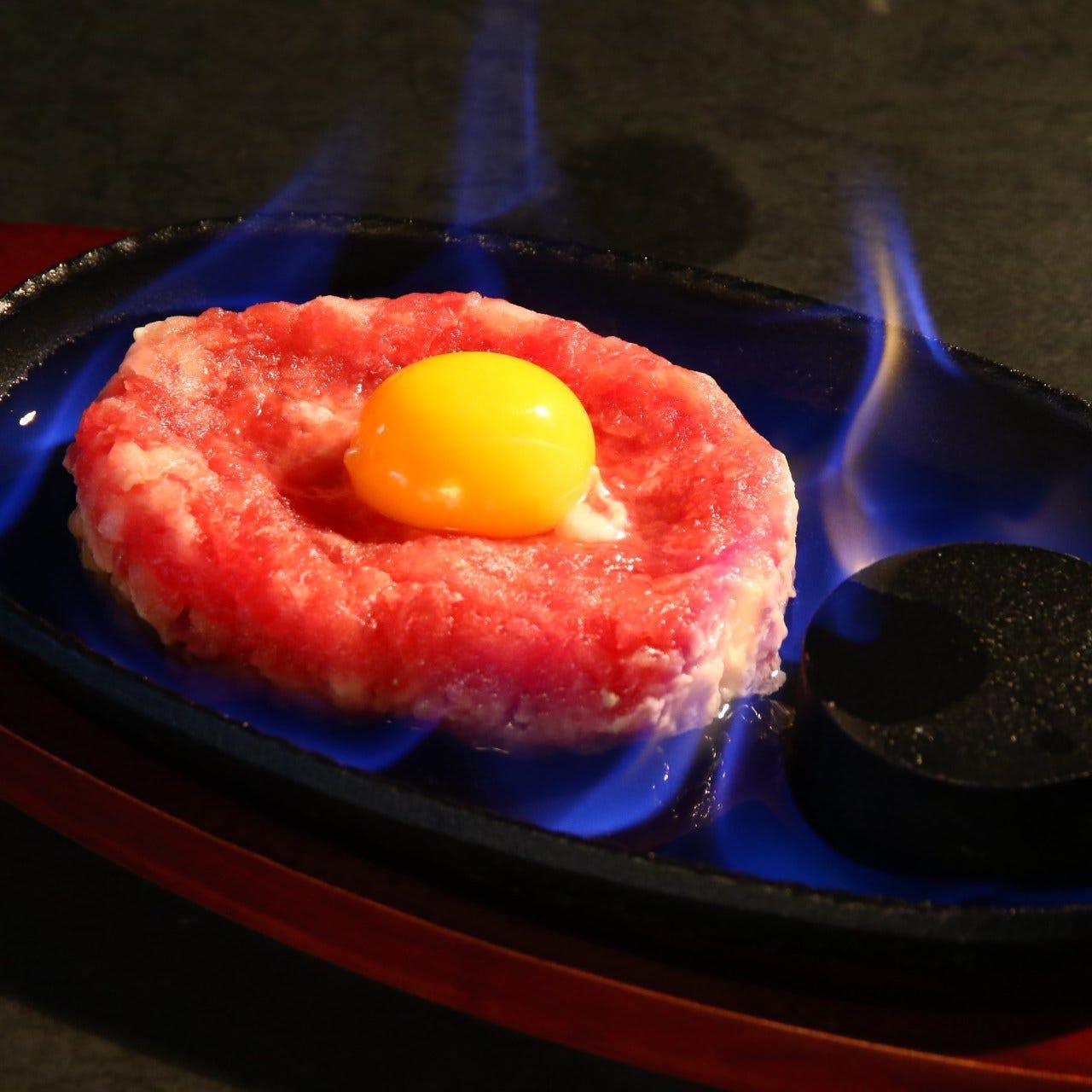 ネギトロをお好みの焼き加減をお楽しみください。