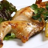 【肉汁注意】若鶏の新子焼き