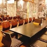 大人数収容可能な宴会向き完全個室