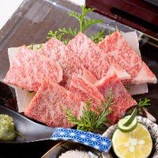佐賀牛A5サーロインの水晶プレート焼き