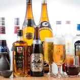 ☆ゴールド飲み放題☆ (約九十種類、生ビールが飲めて、日本酒や焼酎の種類が豊富になります。)