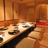 【大小様々な個室】 接待やご結納、気軽な会食まで幅広くご利用