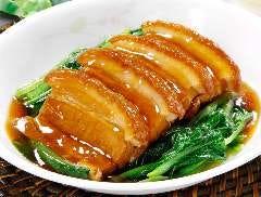 【景珍名物!】豚バラ肉の角煮(蒸しパン2個付き)