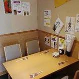 【ご友人・ご家族・会社関係にも◎】人数に合わせて対応可能なテーブル席