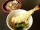 まぐろづけ丼と天ぷらうどんセット