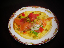 Russian Pancake with Salmon