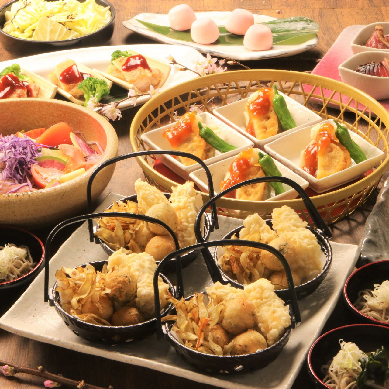 【春爛漫♪コース】料理9品+2時間飲み放題付3,500円(税込)