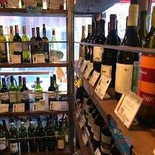 店内のウォークインワインセラー
