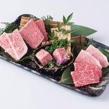 薩摩牛や元米黒牛の希少部位は料理長がその日に1番食べてもらいたい部位を販売しています。