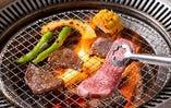 炭火で食す、九州が誇る黒毛和牛を堪能する