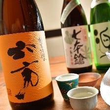 滋賀の銘酒を含め種類豊富なドリンク