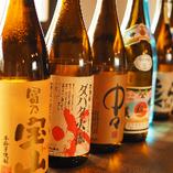 【多彩なお酒】 滋賀の地酒はもちろんのこと全国の美酒が揃う