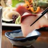 ◆毎日仕入れた新鮮魚介でつくる旬のお刺身!お酒のお供に◎