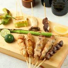 焼き鳥の種類も豊富!野菜串も人気!