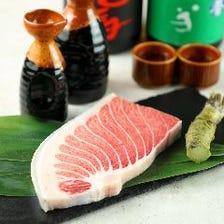 日本酒の種類も豊富!マグロと日本酒