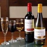 樽詰スパークリングワインは1杯ずつサーバーから注ぎます
