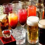 豊富な飲み放題メニュー(2時間・L.O.30分前)
