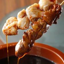 地鶏&国産鶏を毎朝丁寧に串打ち!!