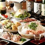 『わや』自慢のとり料理を満喫できる豪華なコース