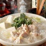 わや名物の鶏白湯仕立ての水炊き鍋