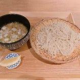 牛すじ塩煮蕎麦